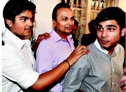 Jai Anmol and Jai Anshul Ambani