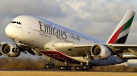 Emirates flight