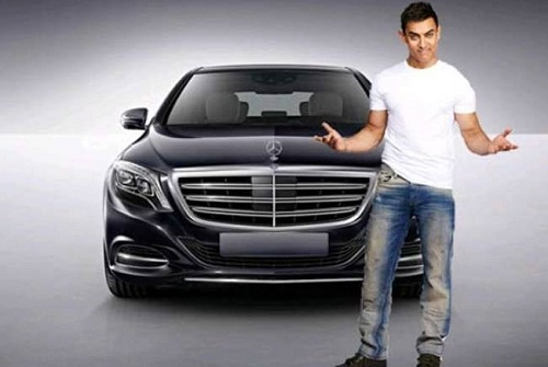 Aamir Khan with Mercedes Benz S600