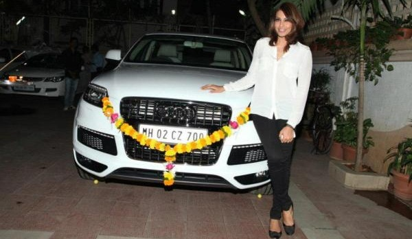 Bipasha Basu with Audi q7