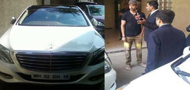 Hrithik Roshan with Mercedes Benz S Class
