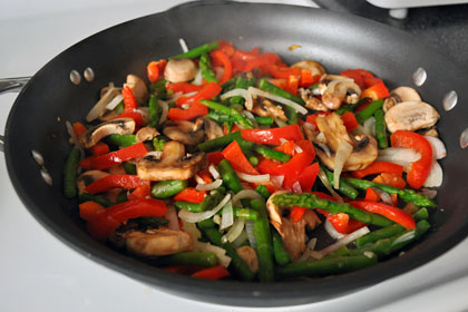 Garlic and Pepper Mushroom Stir Fry