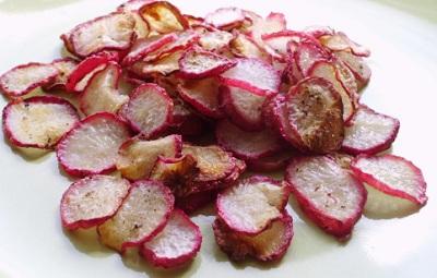 Baked Radish Chips