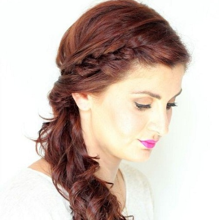 Braided Low Wavy Ponytail