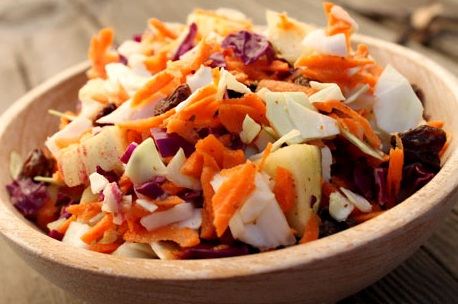 Carrot and Cashew Coleslaw