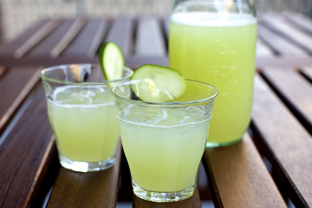 Cucumber Lemonade Gin Punch