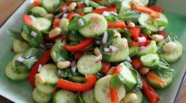 Cucumber and Peanut Salad