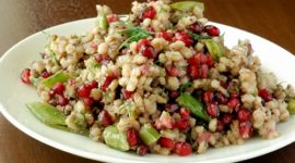 Pearl Barley Salad with Pomegranate and Avocado