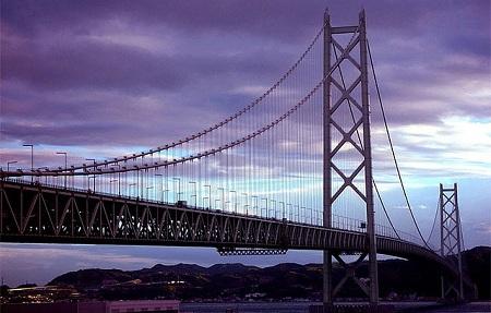 Akashi Kaikyo Bridge - Kobe-Naruto, Japan