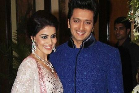 Genelia D'Souza and Ritesh Deshmukh