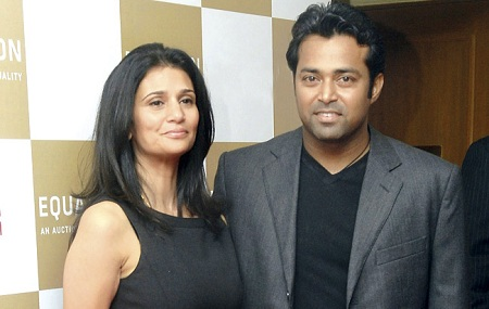 Rhea Pillai and Leander Paes