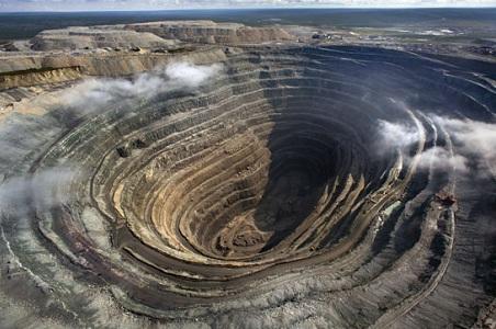 Udachnaya Pipe in Russia