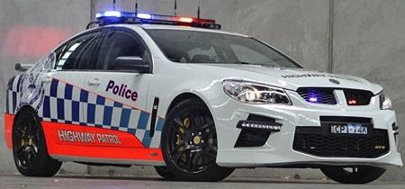 HSV GTS Australian Police Car