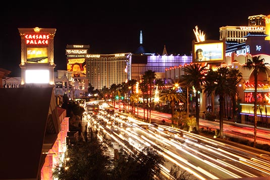 Las Vegas Strip in Nevada, US