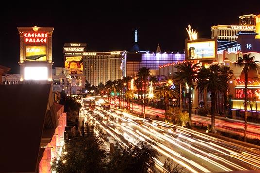 Las Vegas Strip in Nevada, US