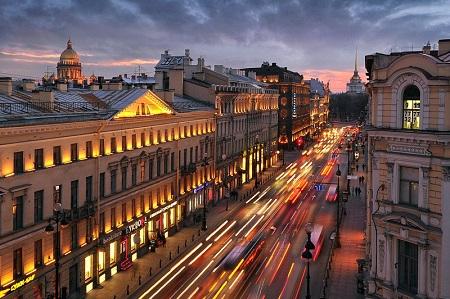 NevskyProspekt in St. Petersburg, Russia