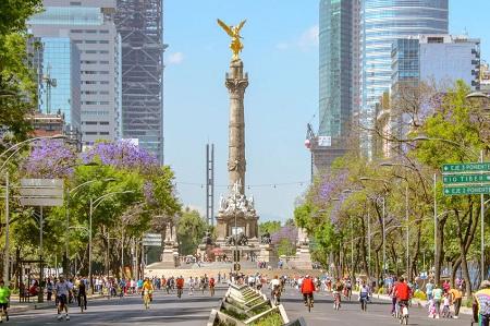 Paseo de la Reforma in Mexico City, Mexico