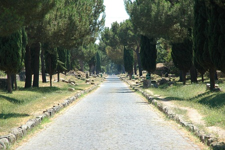 ViaAppia in Rome, Italy