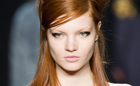 An ultra-thick, feathered cat-eye
