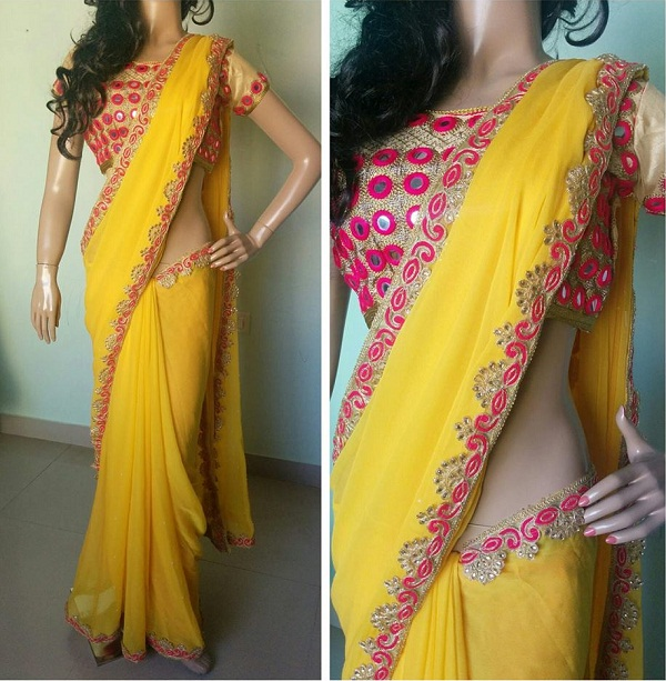 Mirror Work Sarees