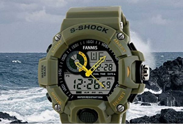 Fanmis Men's Military Multifunction Digital LED Watch