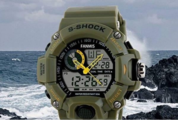 Fanmis Men's Military Multifunction Digital LED Watch