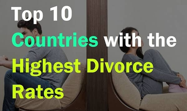 Countries with highest Divorce Rate