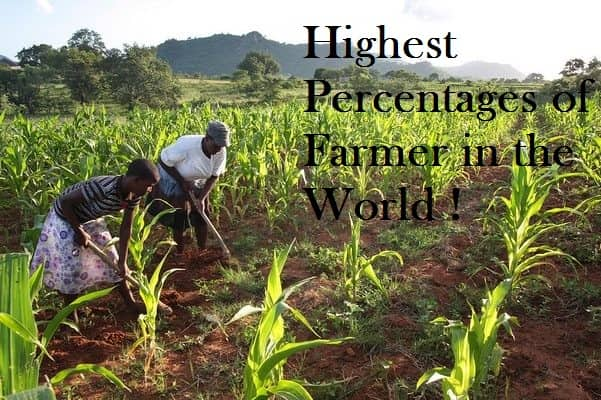 Highest Percentages of Farmer Countries