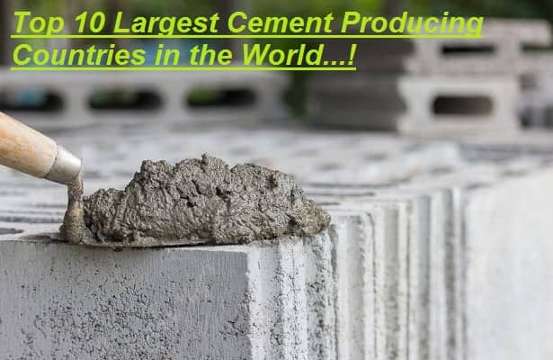 Largest Cement Producing Countries