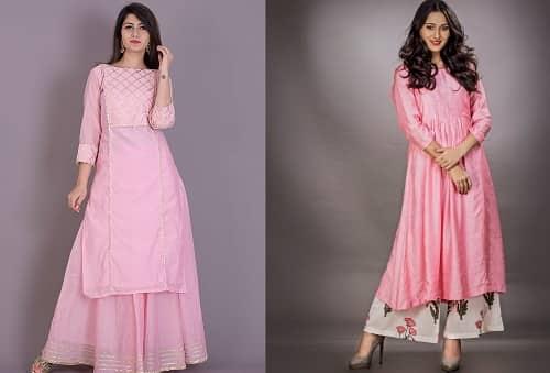 The Pink flared kurta