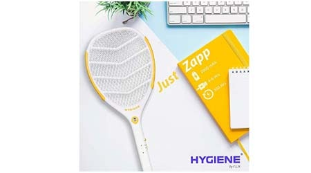 Hygiene JUST-ZAPP Mosquito Killer Racket Rechargeable Bat Mosquito Racket for Home