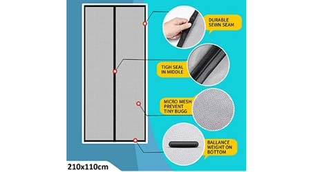 Lifekrafts Polyester Mosquito Screen Curtain for Main Doors