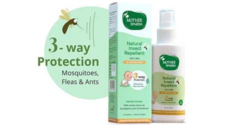 Mother Sparsh Natural Insect Repellent for Babies, Herbal Armor