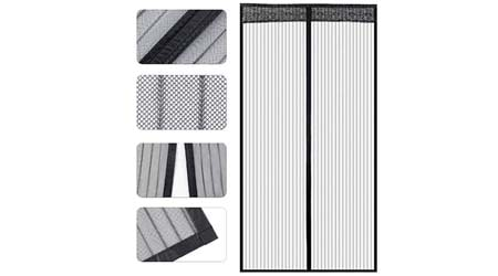 Store2508-« Polyester Mesh Mosquito Screen Curtain with Magnets for Main Doors