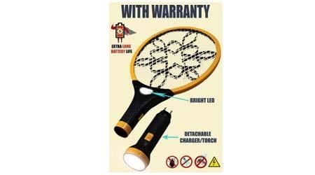 Viola Rocklight Rechargeable Mosquito Racket Bat