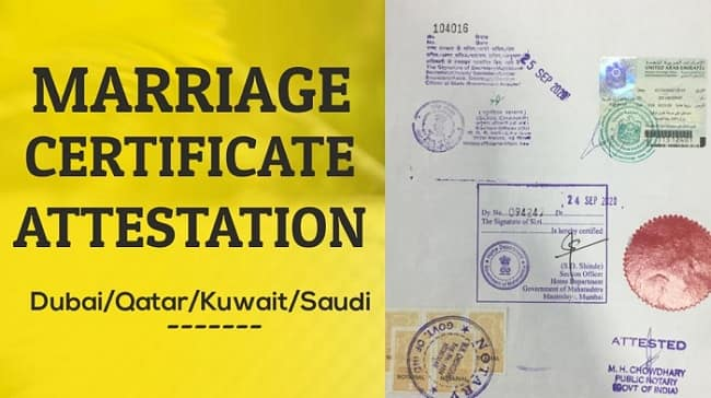 Marriage Certificate uae